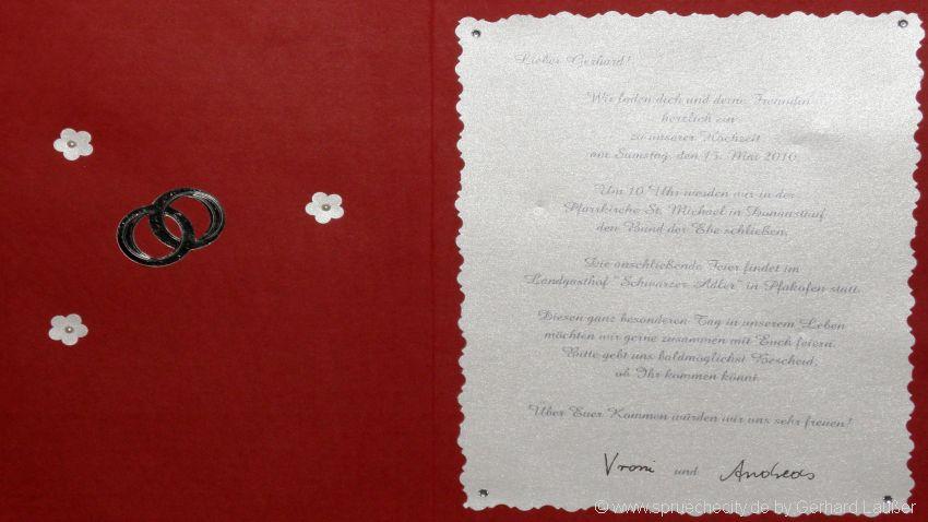 Mustertexte für Einladung zum Geburtstag oder Hochzeit